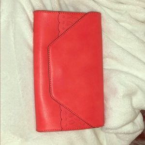Gianni Bini red orange clutch